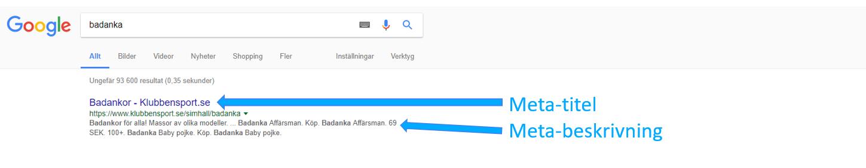 exempel på meta titel och meta beskrivning